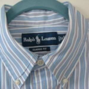 Men's Ralph Lauren Polo Shirt LS Button Down Front